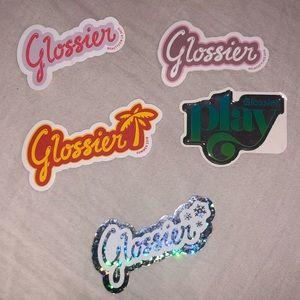 glossier stickers!